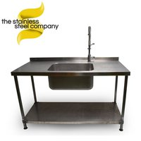 1.5m Single Stainless Steel Sink (SS201)
