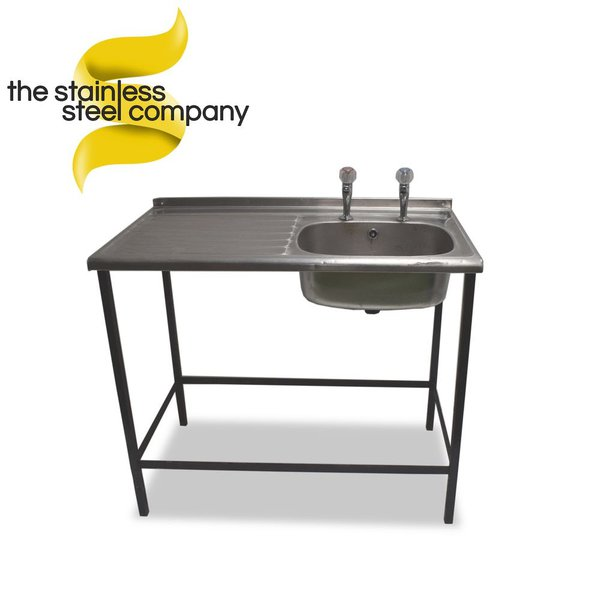 1m Single Stainless Steel Sink (SS204)