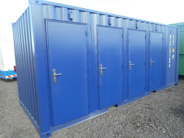 New 20' x 8' Shipping Container Converted In To A 4 Compartment Store