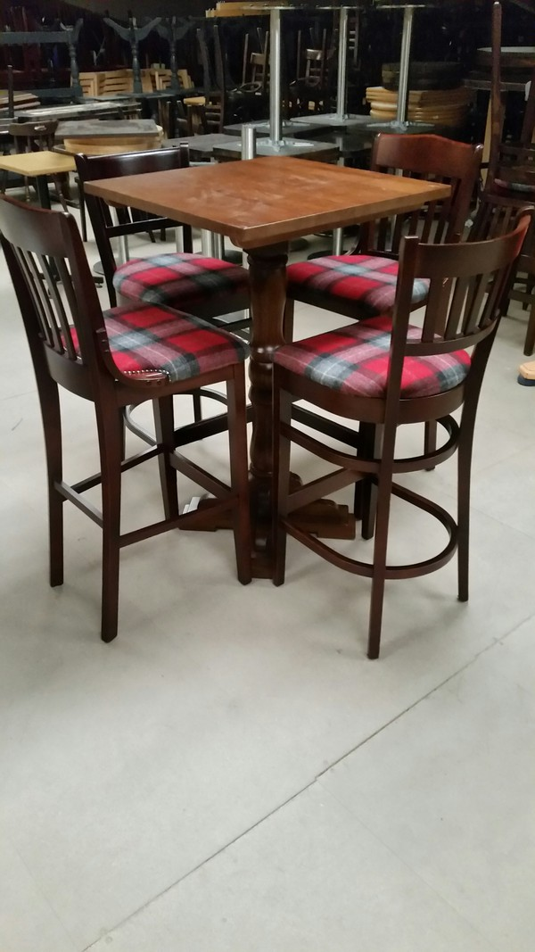 Table and High Bar Chairs