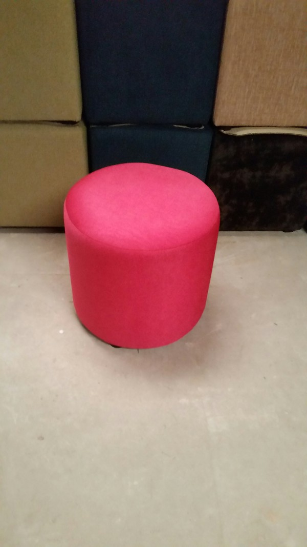 20 x New Bright Pink Fabric Fully Upholstered Low Stools