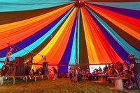 Rainbow Marquee 60 Ft Single Pole Round