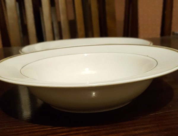 Plates & Bowls with Gold Rim