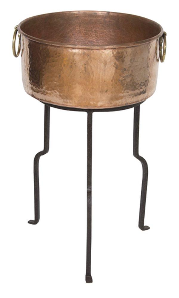 Copper Champagne Drinks Cauldron & Stand
