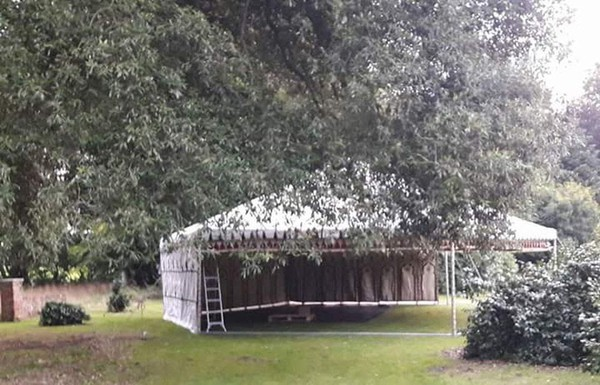 Moroccan Party Marquee in a garden