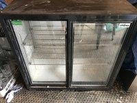 2 Door Under Counter Bottle Fridge
