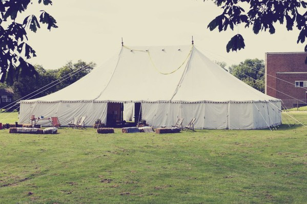 Traditional White Canvas Marquee 60ftx 40ft. Beautiful Proportions.