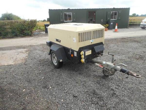Ingersol Rand 7/31E Road Compressor 106 Cfm 6kva Generator