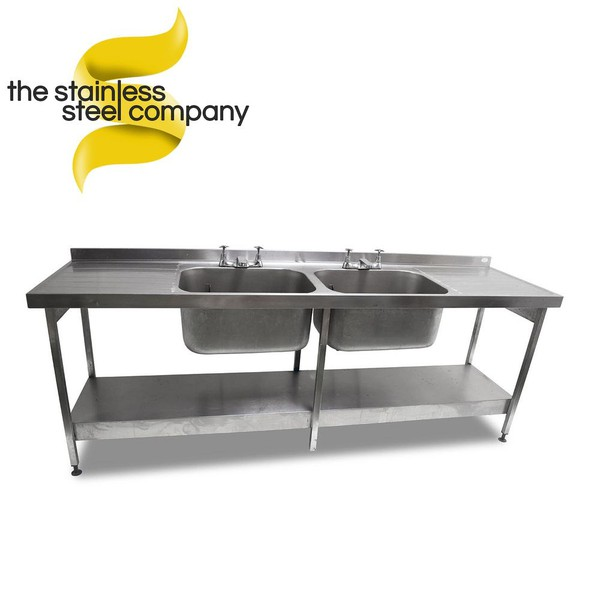 2.4m Double Stainless Steel Sink (SS151)