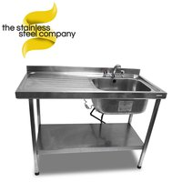 1.2m Stainless Steel Sink (SS163)
