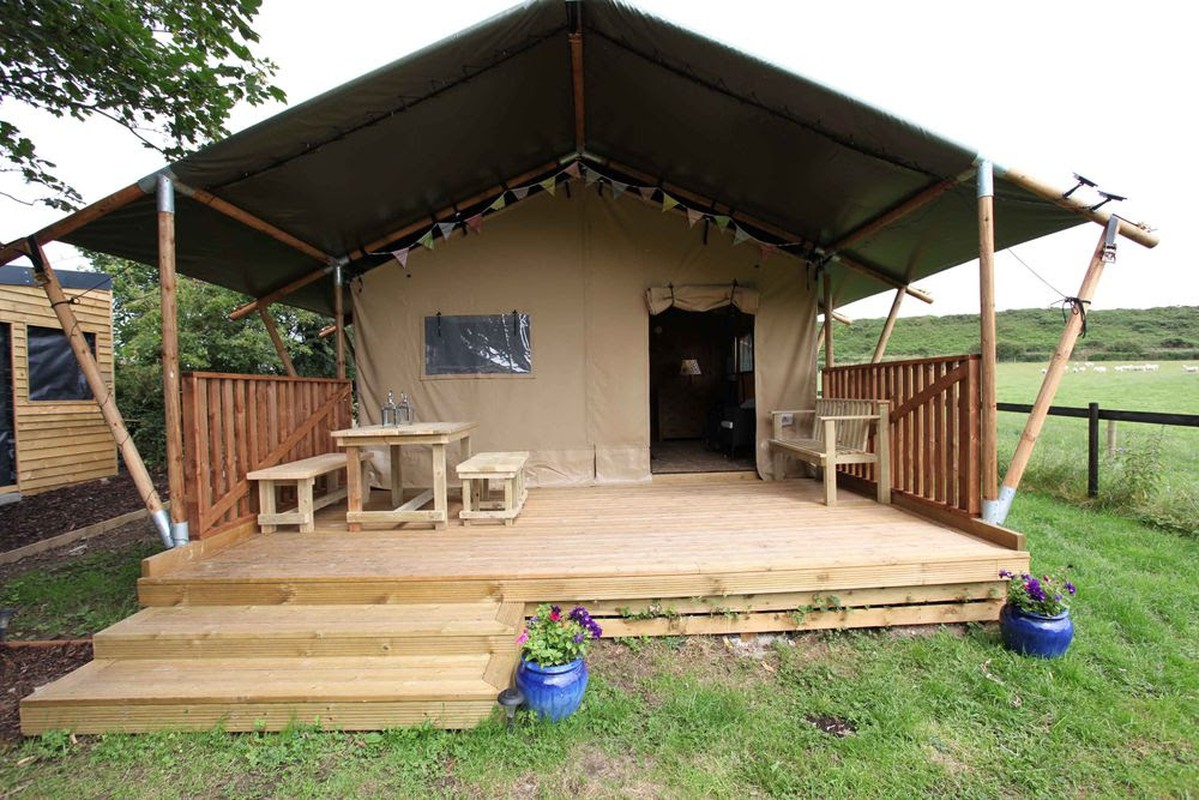 Woody WPT2 Safari Tent & Curlew - SecondHand Marquees | Glamping and Camping Marquees or Tents