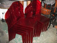 "Red "" Ghost"" Chairs (Code DC 762A)"