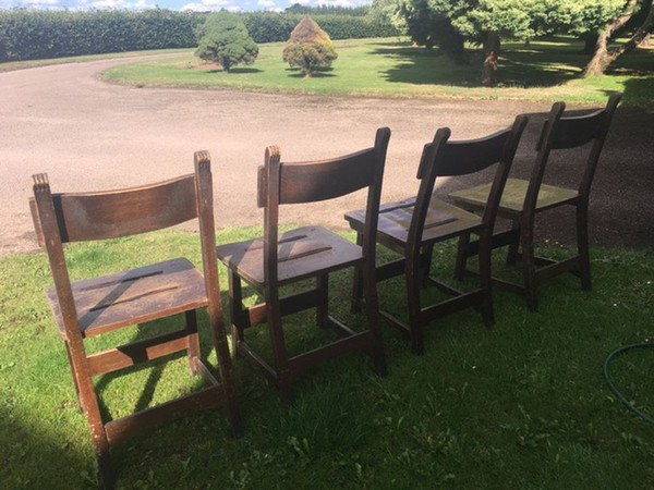Chapel Style Vintage Chairs