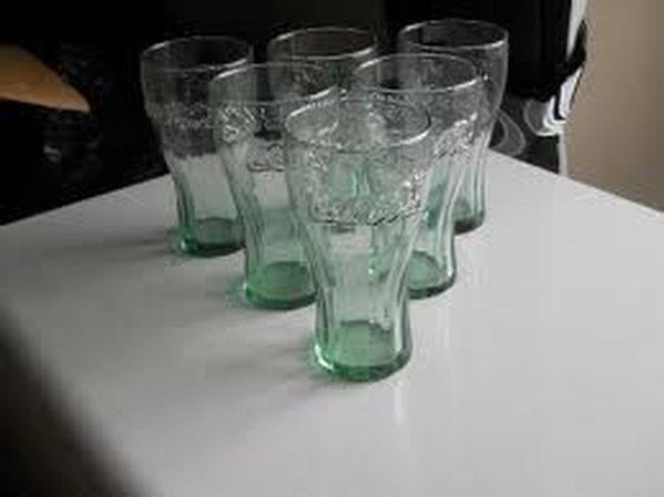 144x 160z Coca Cola Georgia Green Glasses