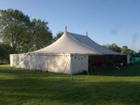 12m x 18m Traditional Pull Up Canvas Marquee