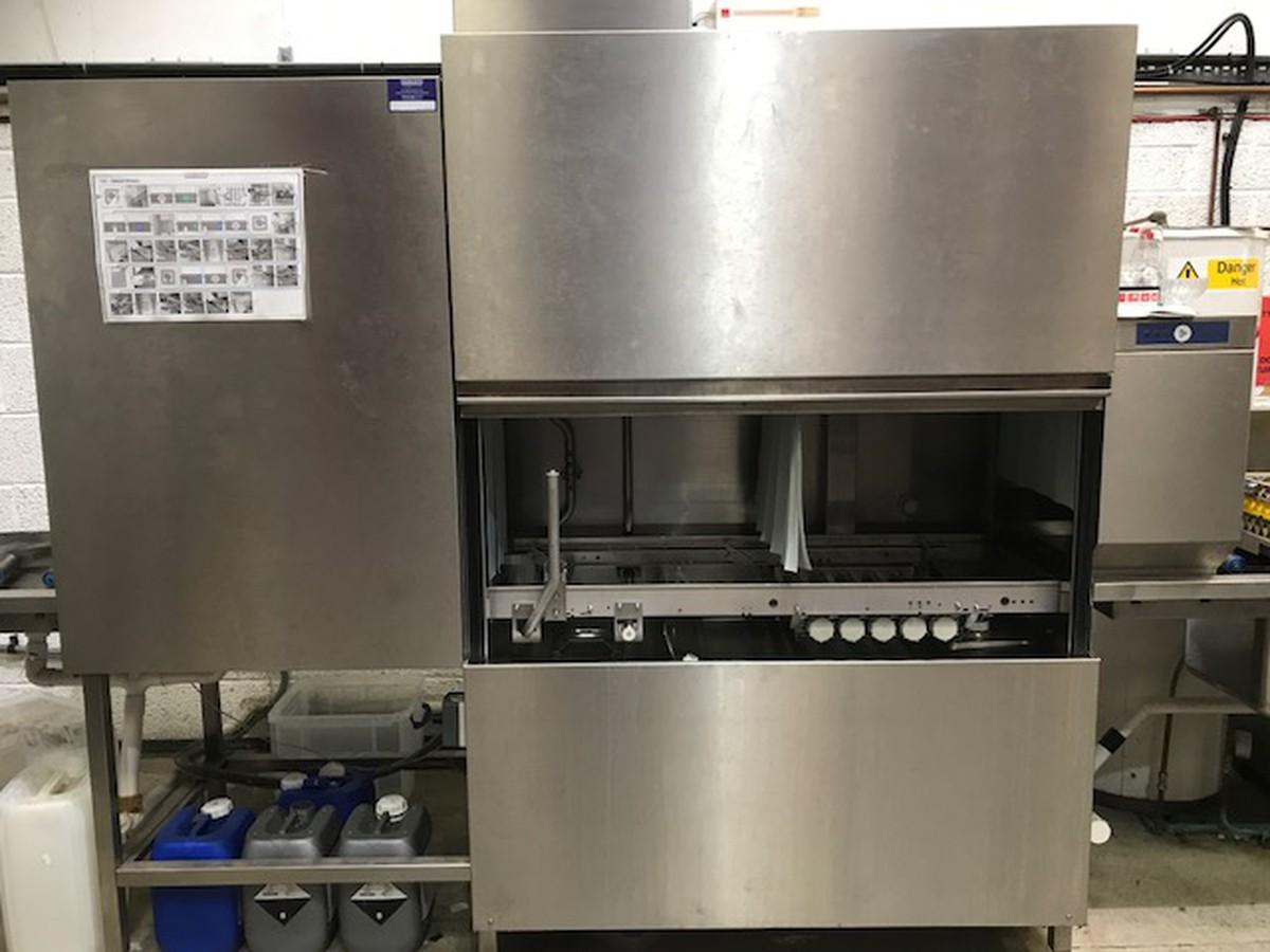 Secondhand Catering Equipment Pass Through Dishwasher Hobart Rack Conveyor Dishwasher