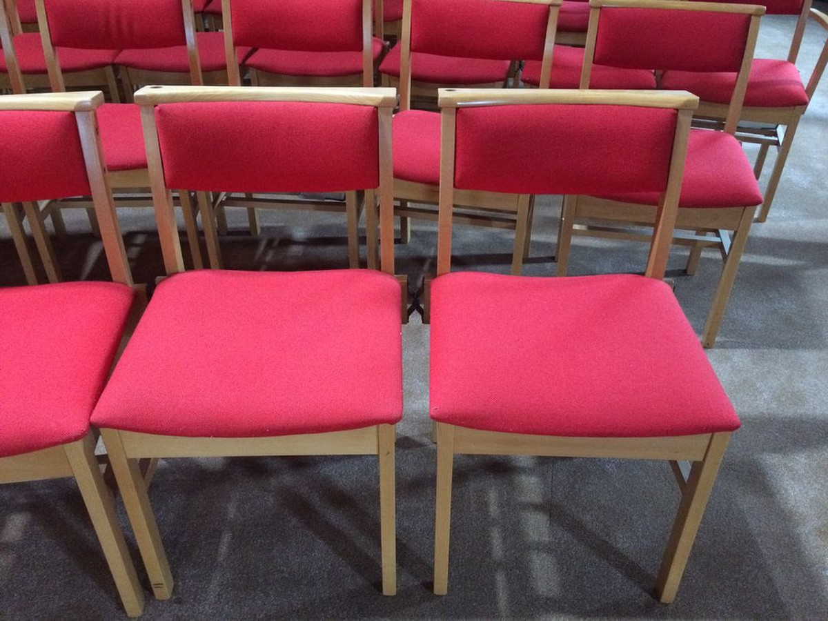 Secondhand Vintage And Reclaimed Church 50x Church Chairs Wilmslow Cheshire