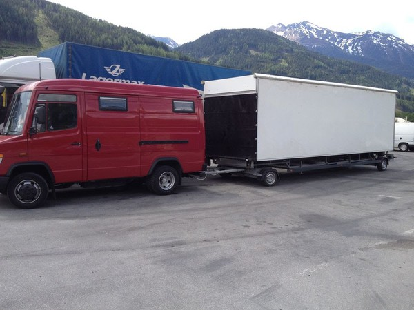 Large trailer stage for sale UK