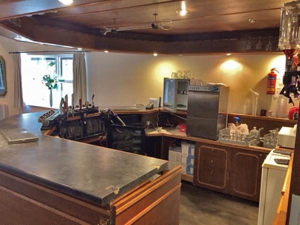 11ft x 11ft Handbuilt wooden bar