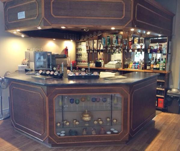 Handbuilt wooden bar for sale