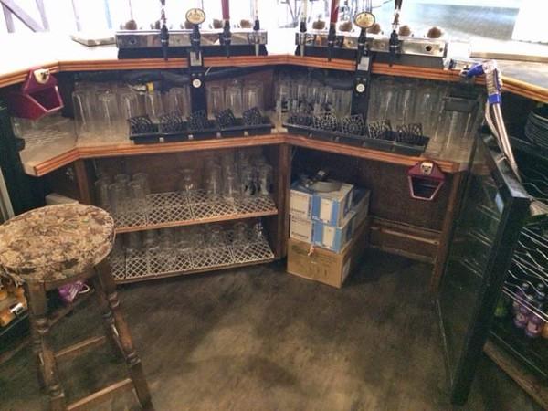 Unique Handbuilt wooden bar
