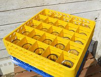 Yellow Glass Washer Racks