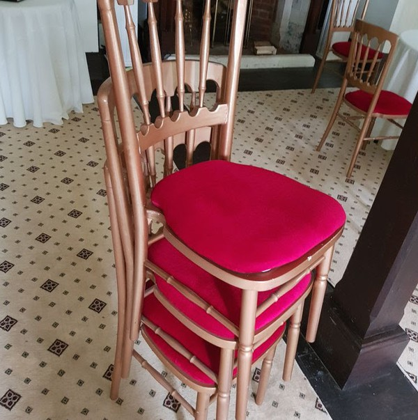 Stackable Gold Banqueting Chairs