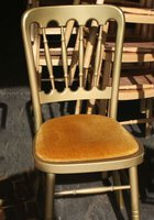 100x Gold banqueting chairs for sale