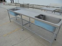 Stainless Steel Double Sink	(5541)