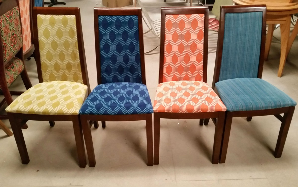 Secondhand pub equipment chairs mixed fabric high