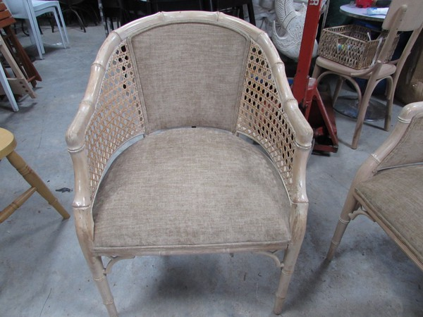 Limewashed bamboo chair