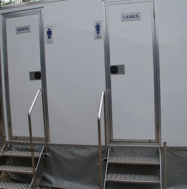 Luxury 1+1 toilet trailer