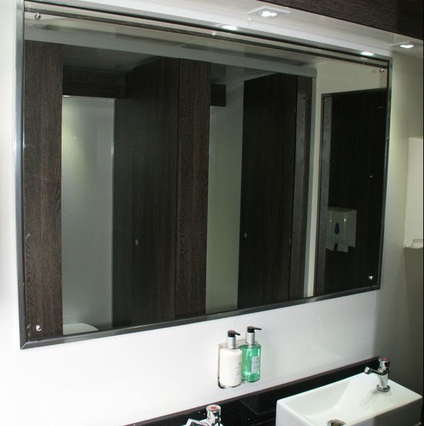 Executive Toilet Trailer Interior