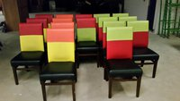 Used faux leather dining chairs
