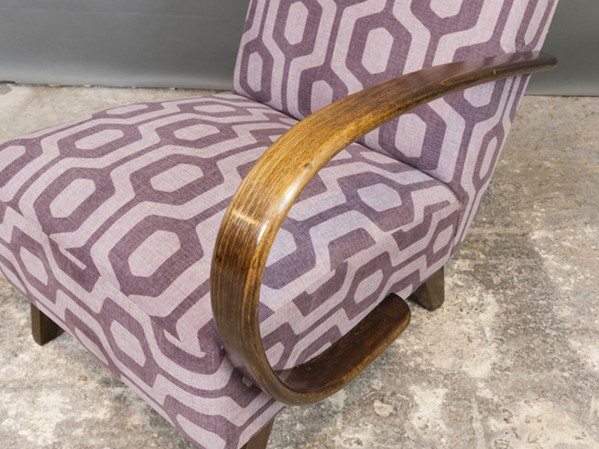 Renovated Pair of Czech Art Deco 1930's Armchairs by Jindrich Halabala