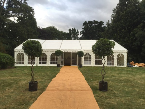 Marquee with ivory lining for sale