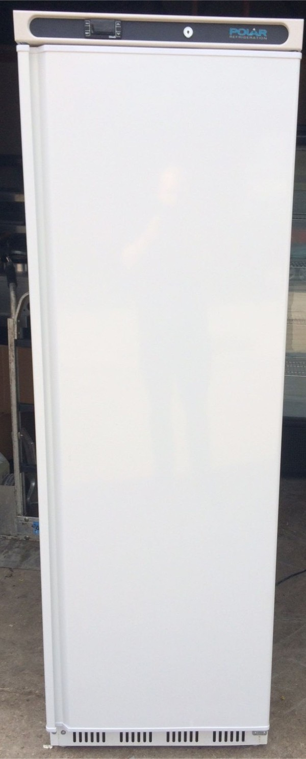 Polar Single Door Cabinet Upright Freezer White 365 Ltr