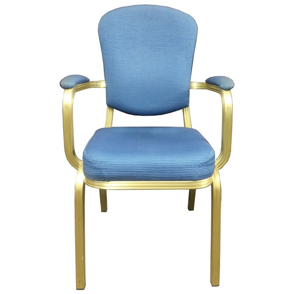 Blue Upholstered Banqueting Arm Chair
