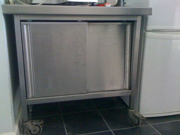 stainless prep table