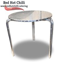 Round stainless steel tables