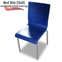 Blue Stackable Café Chairs