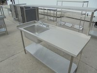 Single bowl sink and table