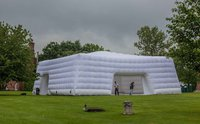 Used inflatable cube structure