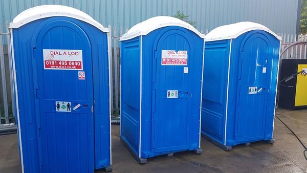 Used single stall toilet