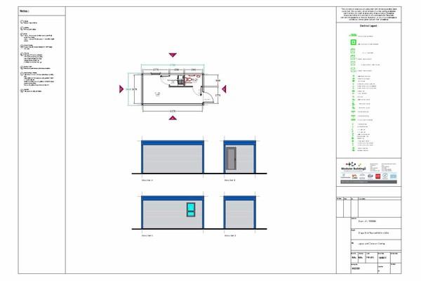 6.7m x 3.4m (22.8m2) Temporary Modular Building