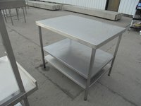 Steel table with shelves for sale