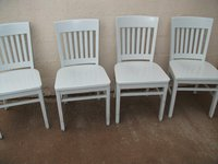 Caramel coloured wood chairs for sale