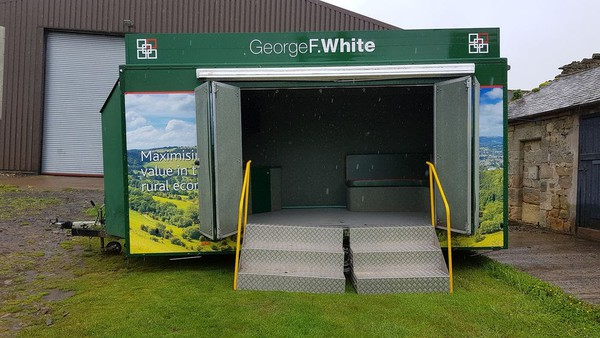 Twin axle exhibition trailer for sale