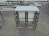 10 tray steel stand