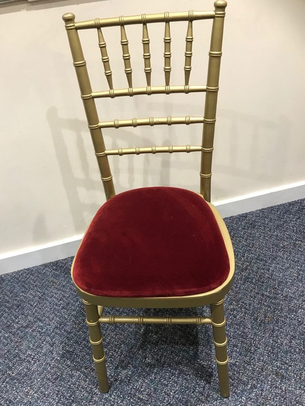 Used chiavari gold chairs